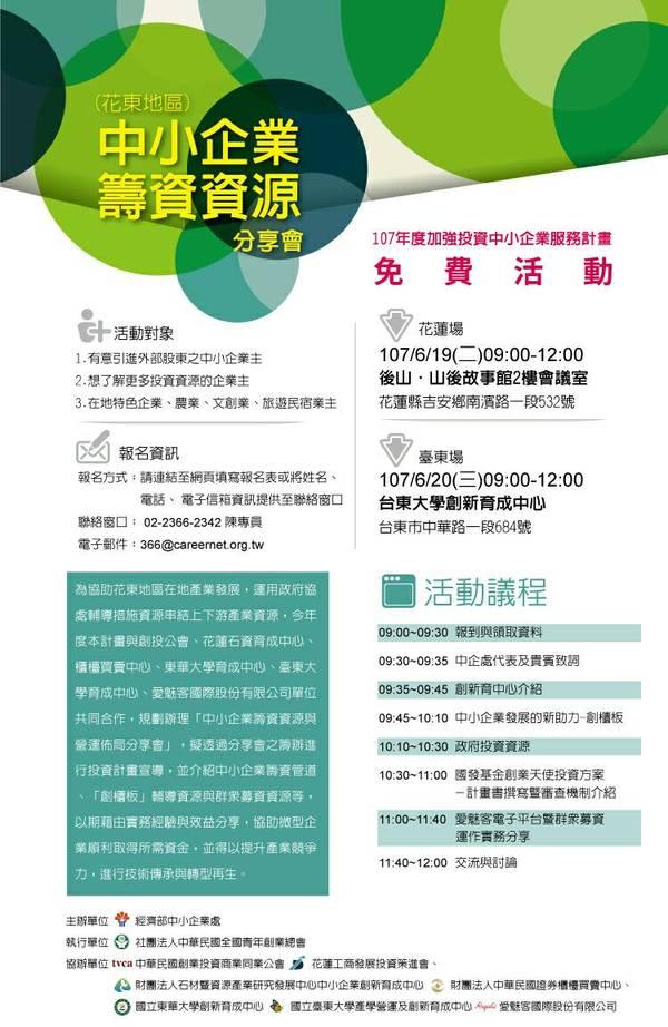 【東區限定】中小企業籌資資源分享會